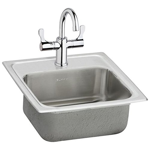 Pacemaker Bar Sink (Elkay BPSRA150C Gourmet Pacemaker Stainless Steel 12 1/2-Inch Single Basin Top-Mount Bar Sink Package with)