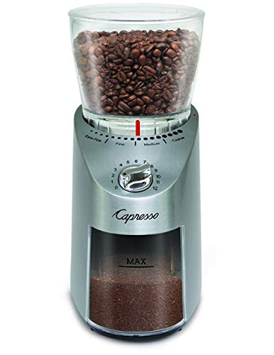 Buy capresso 560.04 infinity conical burr grinder, stainless finish