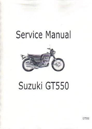 ugt550 1973 1977 suzuki gt550 motorcycle service manual rh amazon com Motorcycle Wiring Harness Diagram Electrical Wiring Diagrams for Motorcycles