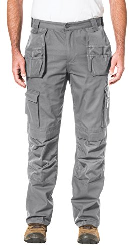 Caterpillar Men's Trademark Pant (Regular and Big & Tall Sizes), Grey, 34W x 32L