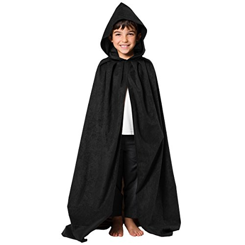 Charlie Crow Black Cloak or Cape with Hood -