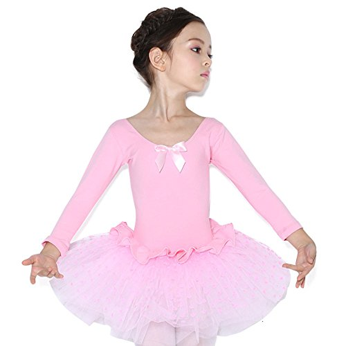 Dress Ballerina Pink - Lisianthus Girls' Ballet Dress Gymnastics Leotard with Tutu Skirt Pink 3-4T