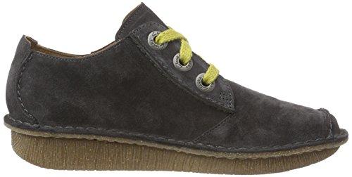 Funny Dream, Zapatos de Cordones Mujer, Gris (Dark Grey SDE), 35.5 Clarks