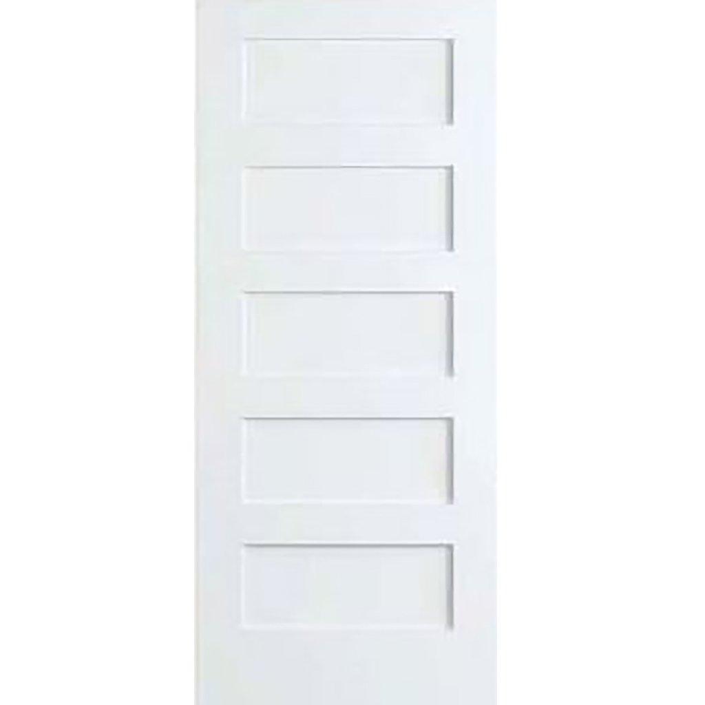 Amazon.com: 5-Panel Door, White Primed Shaker 80 in. x 1-3/8 in ...