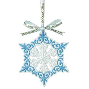Wedgwood Pierced Snowflake Christmas Ornament