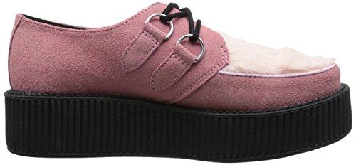 Tuk Unisexe Fausse Fourrure Creeper Mode Sneaker Rose