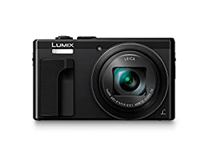 Panasonic LUMIX DMC-ZS60 Camera, 18 Megapixels, 1/2.3-inch Sensor, 4K Video, WiFi, Leica DC Lens 30X F3.3-6.4 Zoom (Black) (International Model) No Warranty
