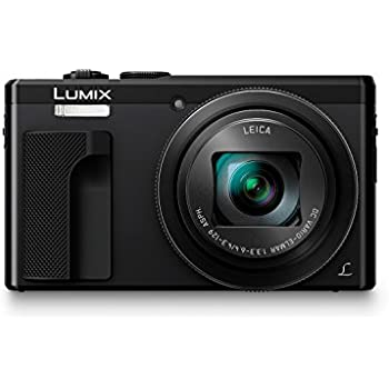 Panasonic LUMIX DMC-ZS60 Camera, 18 Megapixels, 1/2.3-inch Sensor, 4K Video, WiFi, Leica DC Lens 30X F3.3-6.4 Zoom (Black) (International Model) No Warranty