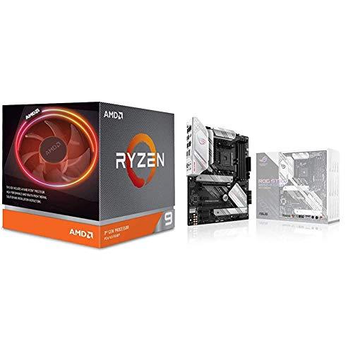 AMD Ryzen 9 3900X 12-core, 24-Thread Unlocked Desktop Processor with Wraith Prism LED Cooler and ROG Strix B550-A Gaming AMD AM4 (3rd Gen Ryzen ATX Gaming Motherboard