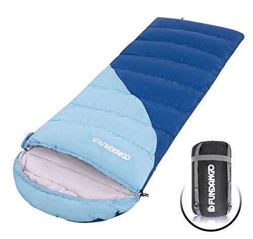 Fundango Saco de Dormir Ligero XL para Camping, Mochilero, Viaje con Saco de Compresión Cálido Saco de Dormir Confort product image