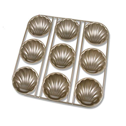 Retro Shell Cake Mould Stainless Steel Madeleine Baking Pan Chocolate Mold Bakeware Tools, 9 -