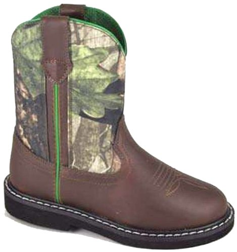 Smoky Mountain Boots Children Boys Hickory Brown Faux Leather Cowboy Camo 2.5 D Crepe Kids Cowboy Boot