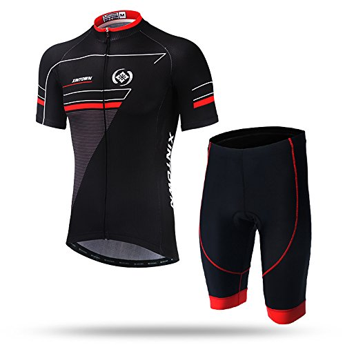 Pinjeer 2018 Cycling Clothing Suit Men Summer Bike Riding Short Sleeve without Suspenders Good Air Permeability