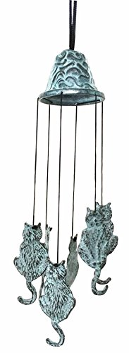 Feline Kitten Cat Abstract Art Brass Resonant Wind Chime Patio Garden Decor Great Gift For Cat Lovers Housewarming Present