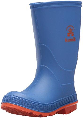 Kamik Boys' Stomp, Strong Blue/Orange, 2 M US Little Kid - Kid Stomp Rain Boot