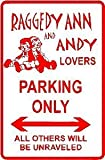 crysss Raggedy ANN & Andy Parking Doll Street Sign