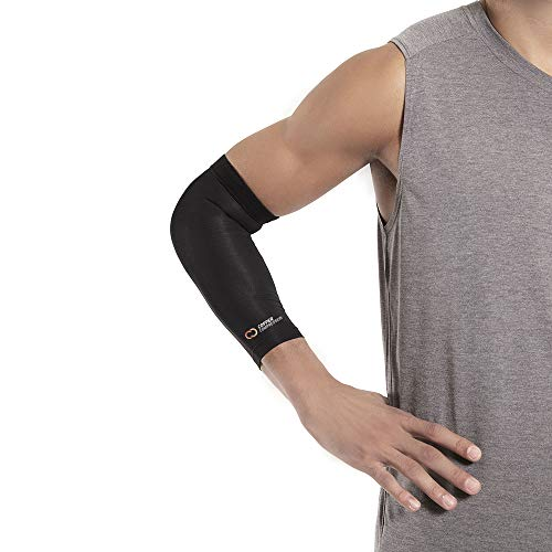 Copper Compression Recovery Elbow Sleeve - Guaranteed Highest Copper Content Elbow Brace for Tendonitis, Golfers or Tennis Elbow, Arthritis. Elbow Support Arm Sleeves Fit for Men and Women (Large) 3