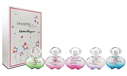 (Salvatore Ferragamo 5 Piece Incanto Eau De Toilette Mini Set)