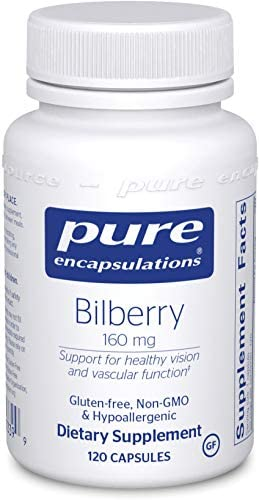 Pure Encapsulations – Bilberry 160 mg – Hypoallergenic Dietary Supplement to Promote Healthy Vision – 120 Capsules