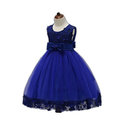Big Girl Dresses Christmas for Wedding Special Occasion Bridesmaid Dresses for Girls 8-10 Elegant A Line Sleeveless Summer Dark Blue Girl Dresses Size 6-8 Years Old Princess (Navy 140) (Dress Blue Navy Old)