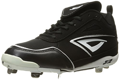 (3N2 Women's Rally Metal Fastpitch, Black/White, 10)