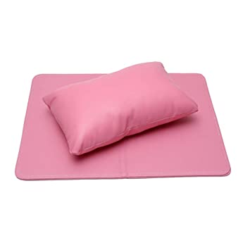 Amazon.com : Pink Faux Leather Cushion Holder Nail Art Hand ...