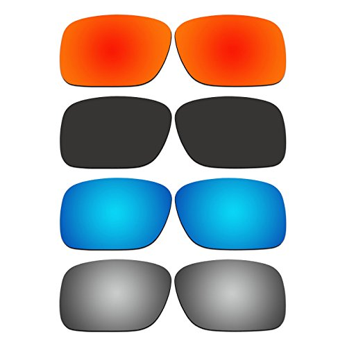4 Pair ACOMPATIBLE Replacement Polarized Lenses for Oakley SI Ballistic Det Cord Sunglasses OO9253 Pack - Sunglasses Ballistic Oakley