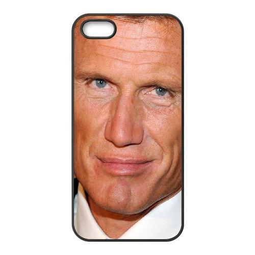 Dolph Lundgren Face Smile Wrinkles Eyes Blue Eyes coque iPhone 5 5S cellulaire cas coque de téléphone cas téléphone cellulaire noir couvercle EOKXLLNCD23281