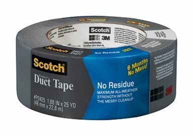 3m No Residue Duct Tape Waterproofing No Residue 25 Yd. Meets Ul 723 Gray, Opaque