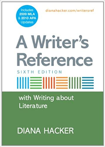 amazon com a writer s reference with writing about literature with