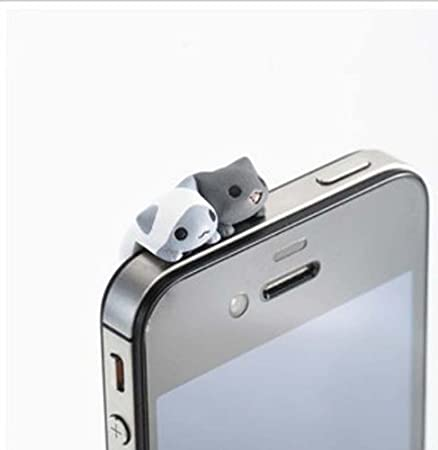 Oro Hosaire Enchufe Anti-Polvo para Smartphone Tablet en kaola Forma Linda con Crystal Rhinestone Bling