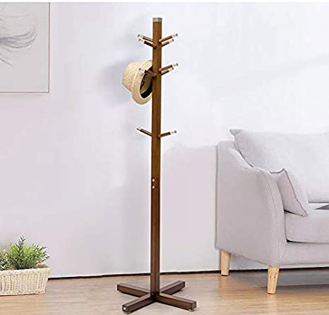 Nueva versión】 Perchero de madera gancho perchero de pie ...