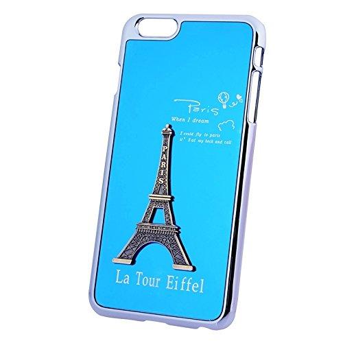 Mxnet 3D Metal Tower Dekoration Plating Skinning Hard Case für iPhone 6 Plus & 6S Plus rutschsicher Telefon-Kasten ( Color : Blue )