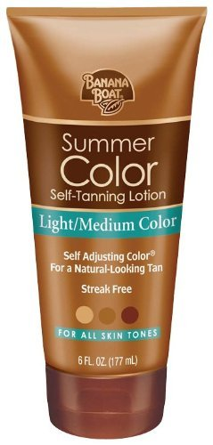 Banana Boat, Summer Color Self-Tanning Lotion, Light/Medium Color, for all Skin Tones, 6 oz Tube