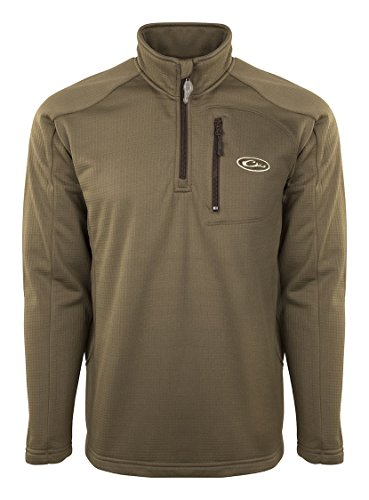 Drake Breathlitie 1/4 Zip Olive Jacket, X-Large