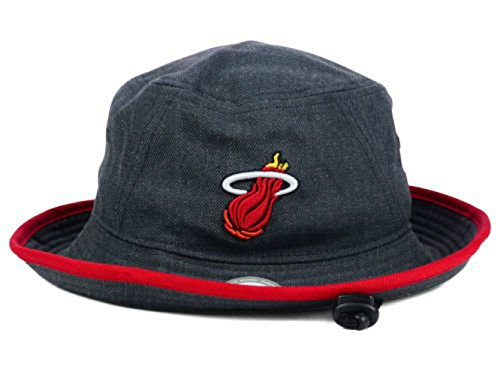 Genuine Merchandise Miami Heat Adult X-Large XL Dark Heather Charcoal Gray Tipped Bucket Hat/Cap - Best Fits Head Sizes Up to 7 3/4