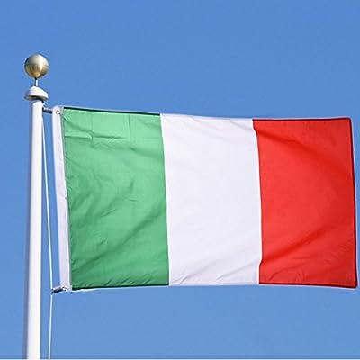 con Anillos Bandera Colgante para Eventos Deportivos Campeonato para Copa Mundial y Euro TRIXES Bandera de Italia 90 x 150 cm