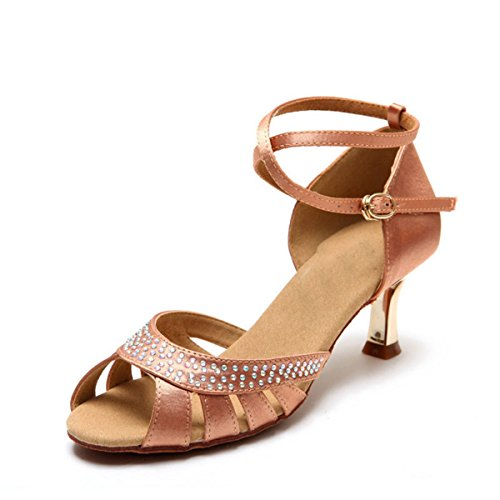 5 Salsa KS123 Satin Ballroom Crystals Miyoopark Wedding Women's Nude Heel 5cm Sandals Latin q4vWXx