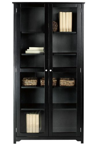 Oxford 72quoth Bookcase With Glass Doors