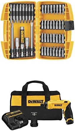 DEWALT DCF680N2 8V Max Gyroscopic Screwdriver 2 Battery Kit with DEWALT DW2166 45 Piece Screwdriving Set with Tough Case