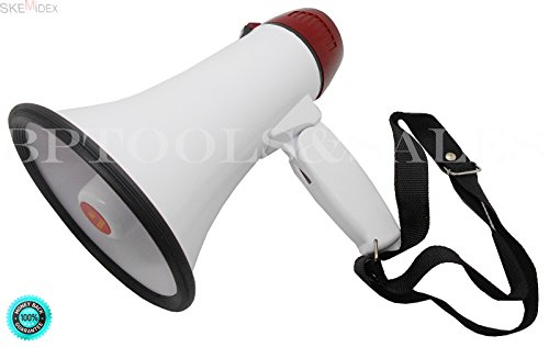 SKEMiDEX---Mini Megaphone Microphone Adjustable Volume Sports Games Voice Amplifier NEW. Ideal for Football, Soccer, Baseball, Hockey and Basketball Cheerleading Fans and Coaches or for Safety - Cheer Coach Megaphone