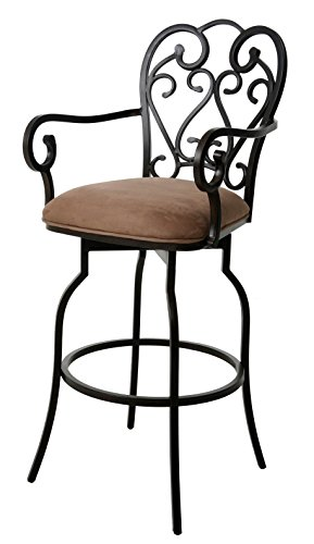 Impacterra Magnolia KD Swivel Counter Height Stool with Arms, 26
