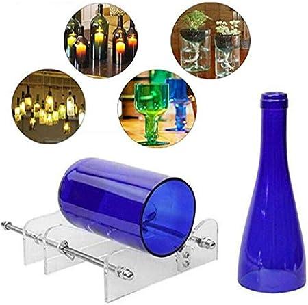 Garosa Cortador de Botellas y Cortador de Vidrio Paquete Máquina de Bricolaje para Cortar Vino Cerveza Whisky Alcohol Champagne Kit de Herramientas