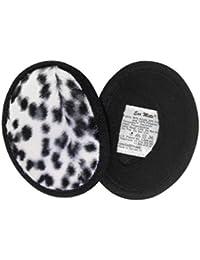 Ear Mitts Bandless Ear Muffs For Women, Ocelot Faux Fur Ear Warmers, Small