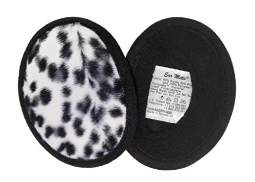 Ear Mitts Bandless Ear Muffs For Women, Ocelot Faux Fur Ear Warmers, - Fur Ocelot Faux