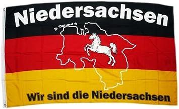 Sturmflaggen/® Flagge Fahne Wir sind Niedersachsen 90 x 150 cm