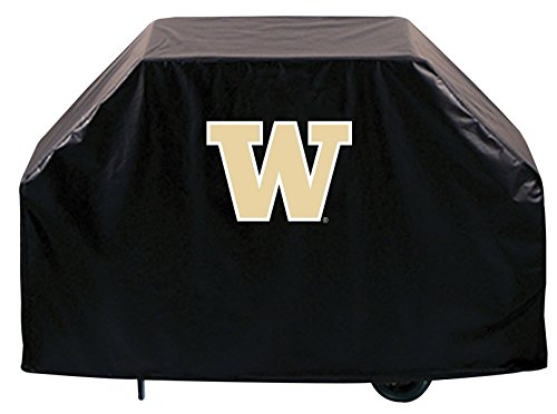 Washington Huskies HBS Black Outdoor Heavy Duty Vinyl BBQ Grill Cover (60