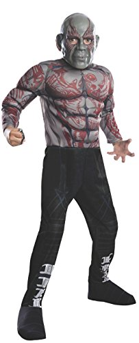 Rubies Guardians of The Galaxy Deluxe Drax The Destroyer Costume, Child Large -