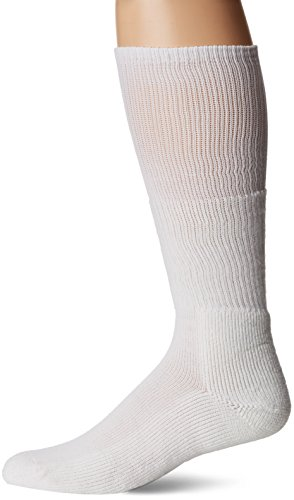 Thorlos Western Dress Padded Over the Calf Sock White (Calf Western Dress Socks)