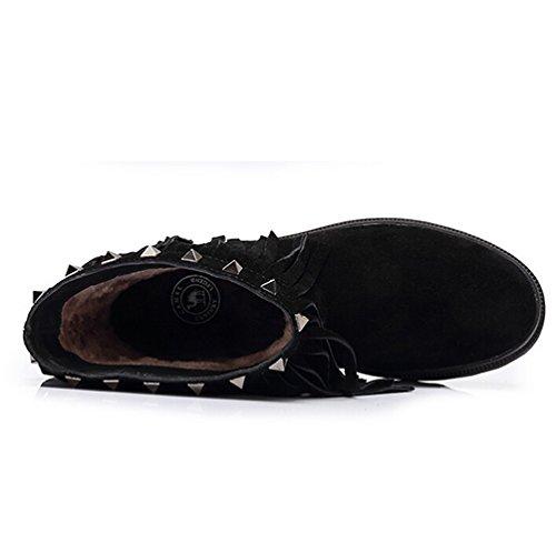 Stivaletto Nappa Tacco Caviglia Da Donna Colore Nero Taglia 35 M Eu